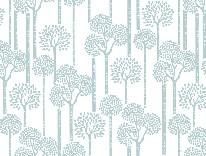 Teal Trees mural