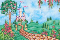 Castle In The Valley mural
