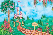 Castle In The Valley - Personalized mural