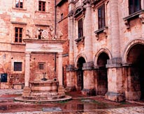 Piazza Grande Well In Tuscany mural