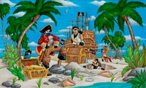 Pirates Luterio mural