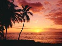 Hawaiian Sunset mural