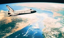 Shuttle In Orbit mural