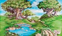 Storybook Hollow mural