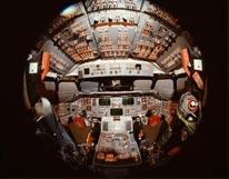 Shuttle Cockpit mural
