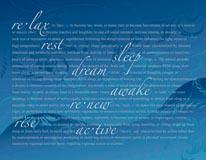 Restful-Blue mural