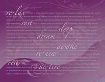 Restful-Purple mural