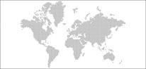World Map - Dots mural