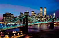 Manhattan Lights Vinyl Wall Decal mural