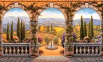 Tuscan Villa Vinyl Wall Decal mural