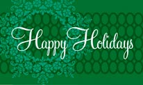 Happy Holidays - Green mural