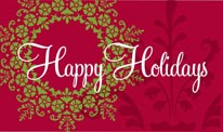 Happy Holidays - Red mural