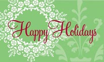 Happy Holidays - Light Green mural