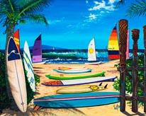 Surf N Sail mural