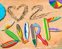 Love To Surf mural