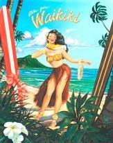 Waikiki Girl mural