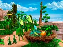 Pteranodon Family Nest mural