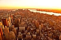 New York City Sunset mural