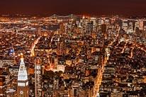New York City Night HDR mural