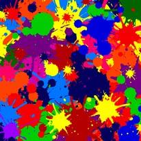 Paint Blob Craziness mural
