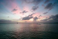 Grand Cayman Sunset mural