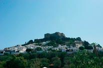 Lhindos Castle Greece mural