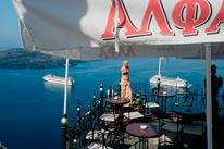 Santorini Restaurant Greece mural