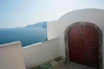 Santorini Doorway mural