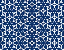 Blossom Tropic Pop Navy mural