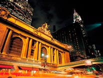 View Of Grand Central Station At Night mural