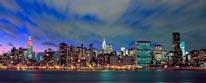 New York Skyline At Dusk Panorama mural