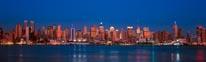 Midtown Manhattan Skyline At Dusk Panorama mural