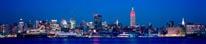 New York Skyline At Night Panorama mural