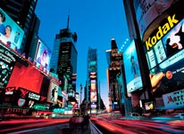 View Of Times Square At Dusk mural