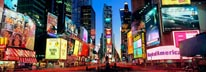 Panoramic View Of Times Square At Dusk mural