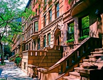 Upper West Side Brownstones mural