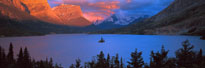 Goose Island Saint Mary Lake Glacier National Park MT mural