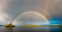 Boundary Waters, Brule Lake Rainbow mural