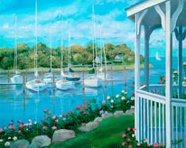 Gazebo On The Harbor mural