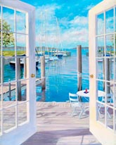 Dockside At The Marina mural