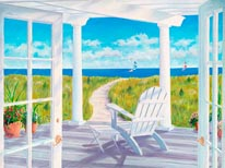 Pergola By The Sea mural