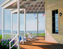 Seaside Porch mural
