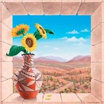 Acoma Sun mural