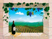 Mariposa Vineyards mural