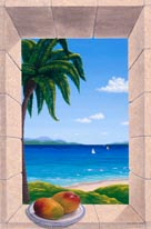 Hawaiian Fantasy With Mangos mural