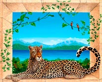 The Leopard mural
