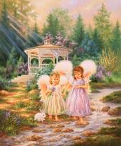 Sister Angels mural