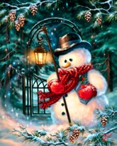 The Enchanted Christmas Snowman mural