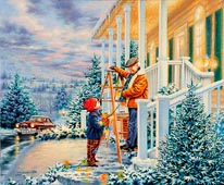 Colors Of Christmas mural