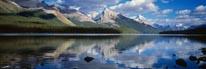 Maligne Lake Reflections mural